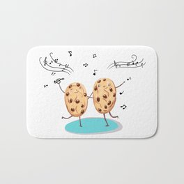 Cookies funny biscuits cute Bath Mat