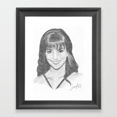 Halle Berry Framed Art Print