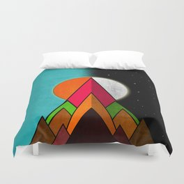 Mountain Day and Night Duvet Cover