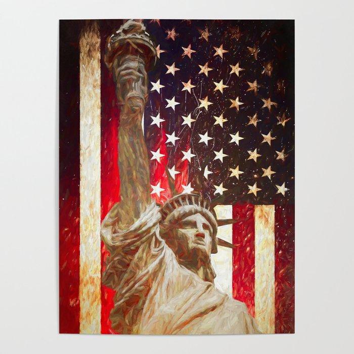 Lady Liberty by Brian Vegas Poster