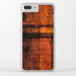 Pathway (Rust Abstract) Clear iPhone Case
