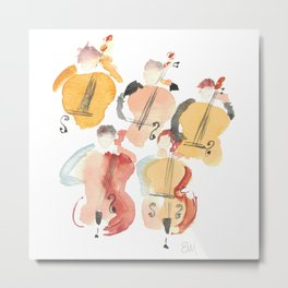 All About that Double Bass Section Metal Print