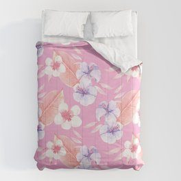 Fabulous Pink Blossom Comforters