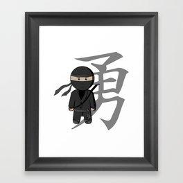 Ninja - Bravery Framed Art Print