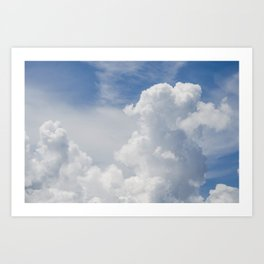 Fluffy Puffy Clouds in the Florida Sky Art Print