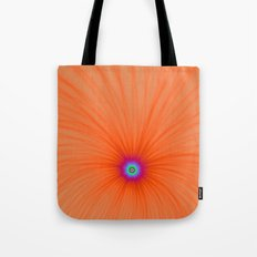 Tangerine Color Explosion Tote Bag