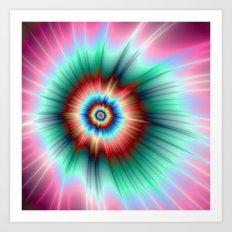 Tie Dye Comet Art Print