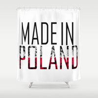 poland Shower Curtains featuring Made In Poland by VirgoSpice