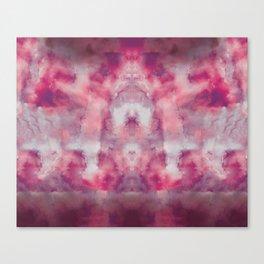 Pink watercolour, marble, yoga, hippie, bohemian, tie dye Canvas Print