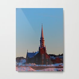 Church at sunset Metal Print