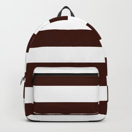 Black bean - solid color - white stripes pattern Backpack