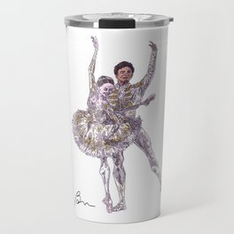 Marianela Nunez and Carlos Acosta in Don Quixote pas de deux Travel Mug