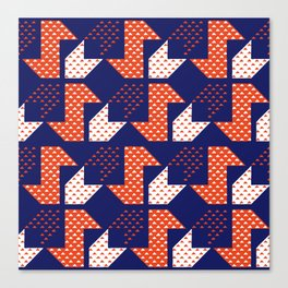 Clover&Nessie Denim/Apple Canvas Print