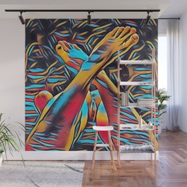 3766s-BH Abstract Leg Arch Vulva Art Feet Up Rendered Abstract by Chris Maher Wall Mural