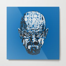 Heisenberg Quotes Metal Print