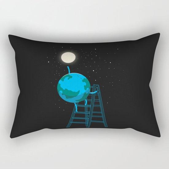 Reach the moon Rectangular Pillow