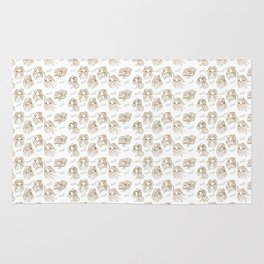Hey pattern with girls Rug
