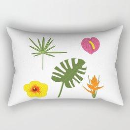 Jungle / Tropical Pattern in white Rectangular Pillow