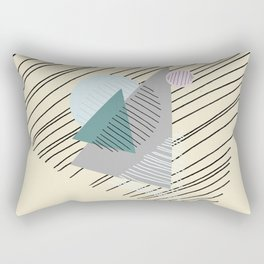 Shapes and Lines Rectangular Pillow