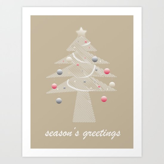 Christmas Card Digital Art Print
