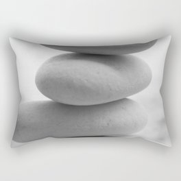 Zen beach rocks print, balancing roks Beach decor art print Rectangular Pillow