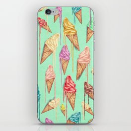 melted ice creams iPhone Skin