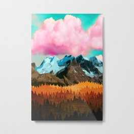 Forest Shine Metal Print