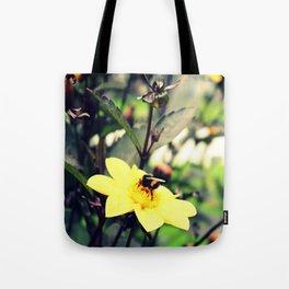 Bumblebee & flowers Tote Bag