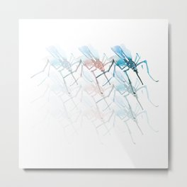 Mosquitoes. Vibrancy. Metal Print