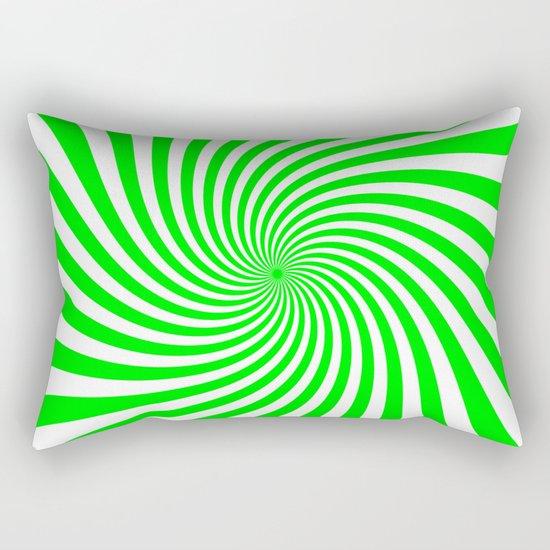 Swirl (Green/White) Rectangular Pillow
