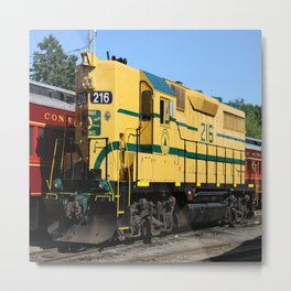 Engine 216 - The Yellow Bird Metal Print