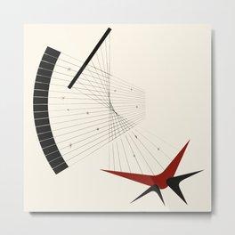 Mid Century Modern Boomerangs Metal Print