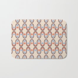 Steve Dots Blue Retro Bath Mat