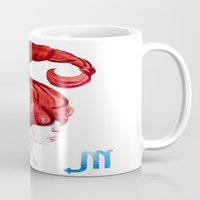 scorpio Mugs featuring Scorpio by Aloke Design