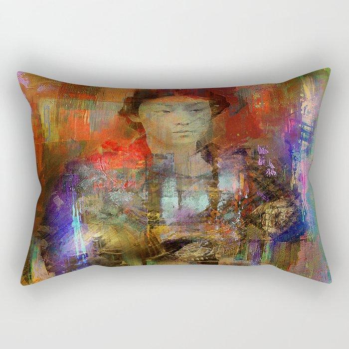 Woman samurai Rectangular Pillow