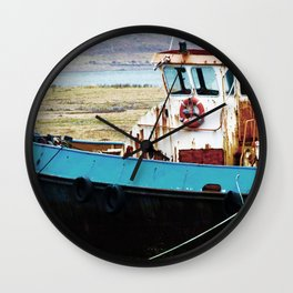 Rusted ship Wall Clock