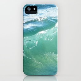 Teal Surf iPhone Case