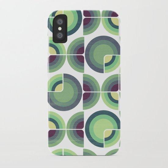 Green Fields Pattern iPhone Case