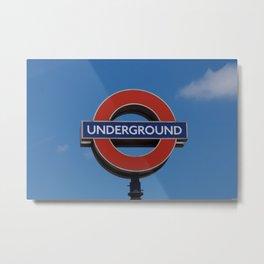 Undergound sign Metal Print