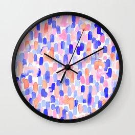 Delight Blue Orange Wall Clock