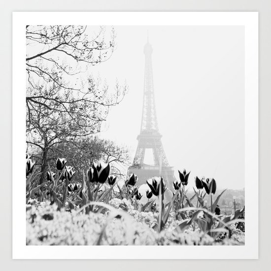Paris Black & White Art Print