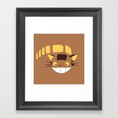 Cute Catbus Framed Art Print