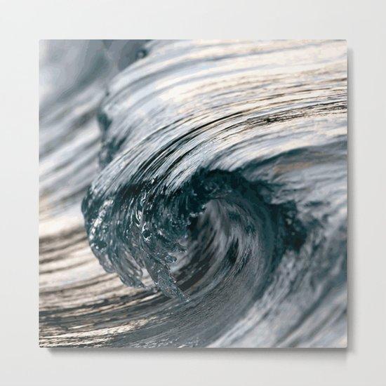 Swirl blue Metal Print