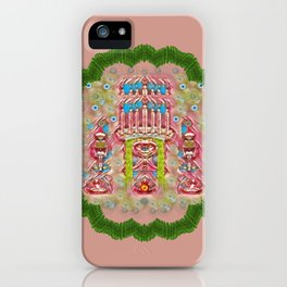 Sankta Lucia with friends light and floral santa skulls iPhone Case