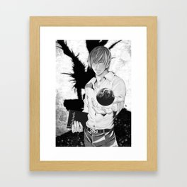 Death Note Light YAGAMI Framed Art Print