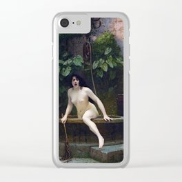 TRUTH COMING OUT OF HER WELL TO SHAME MANKIND - JEAN-LEON GEROME Clear iPhone Case
