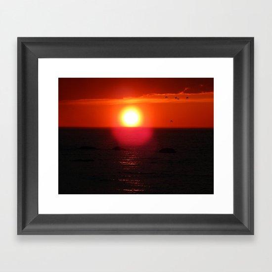 Flying into the Sun Framed Art Print