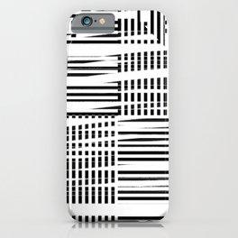 jumbled stripes iPhone Case