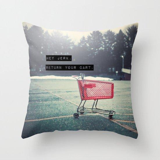 Grocery Cart Rage  Throw Pillow