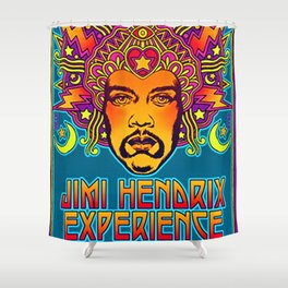 1968 Jimi Hendrix Experience Fillmore East San Francisco Concert Poster Shower Curtain